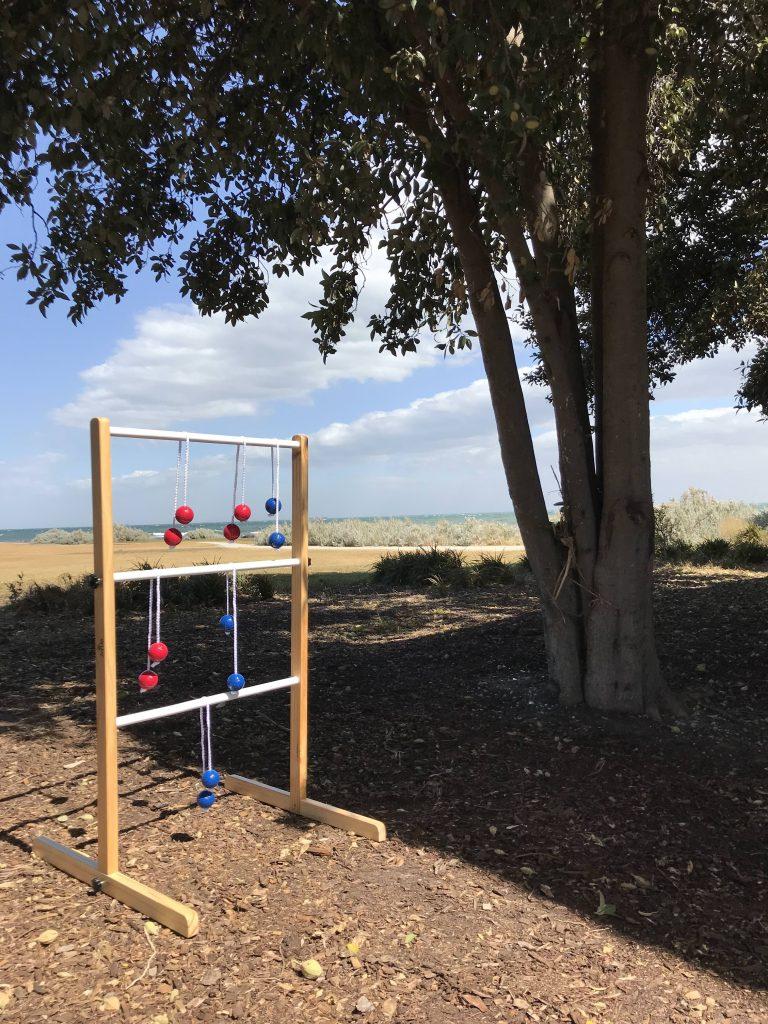Ladder Ball Golf Toss Outdoor Lawn Game Set