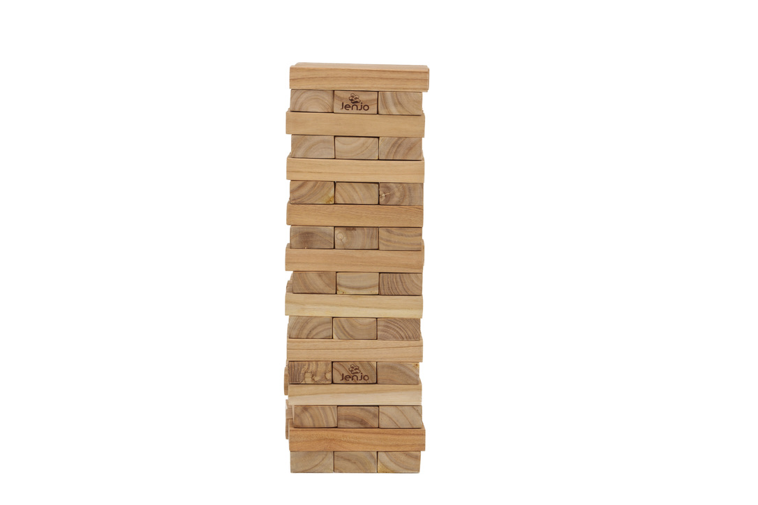 54 Piece Giant Jenjo Outdoor Wooden Block Game 63cm