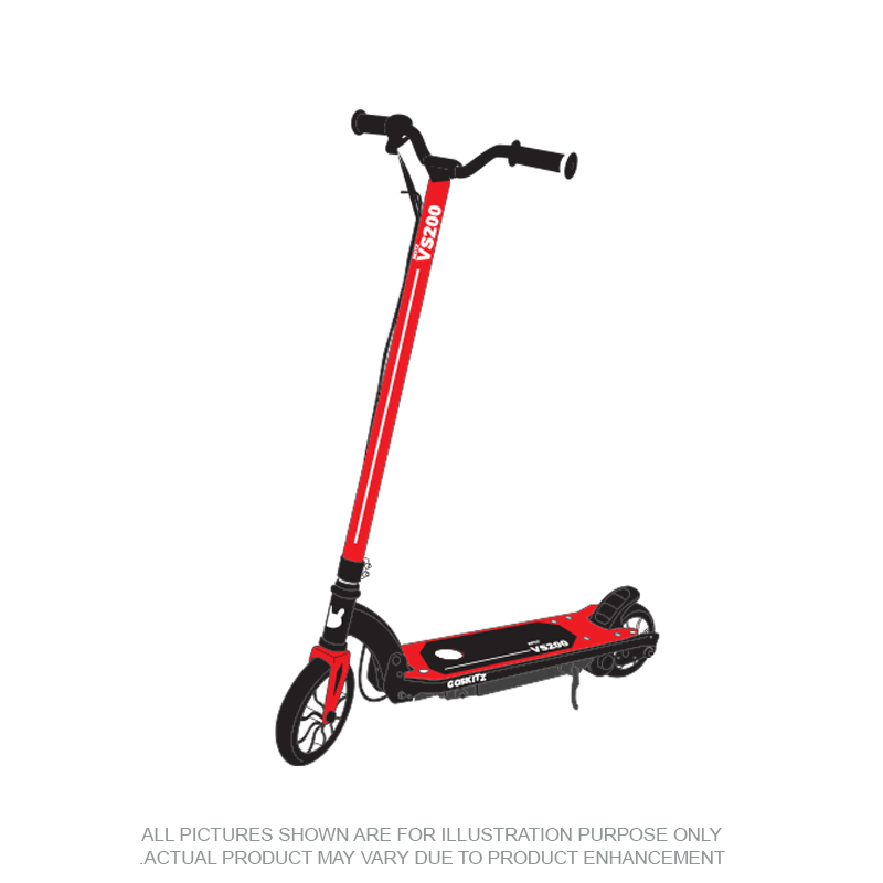 Go Skitz VS200 Electric Scooter Folding Red