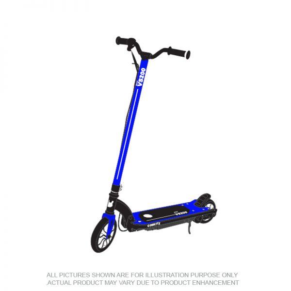 Go Skitz VS200 Electric Scooter Folding Blue
