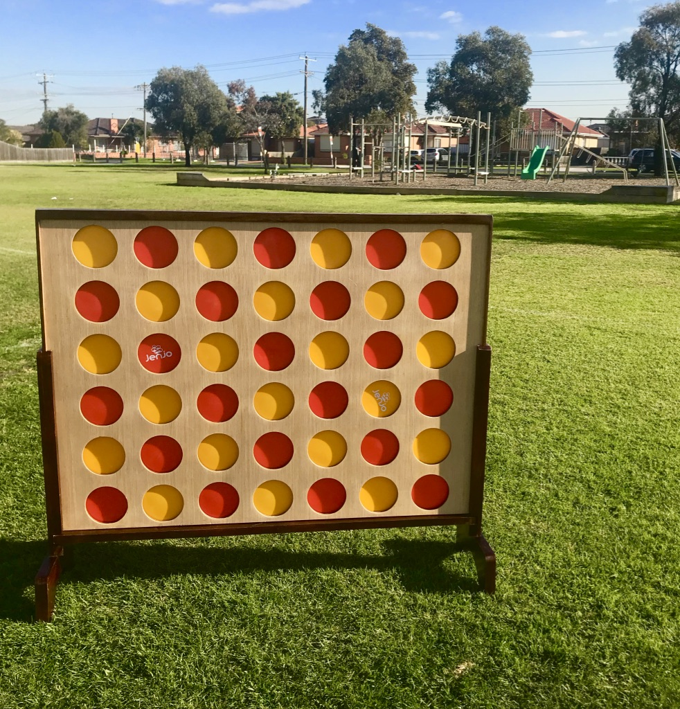 Giant4 Hardwood Indoor Outdoor Giant Connect Four In A Row Game Set 120x109cm