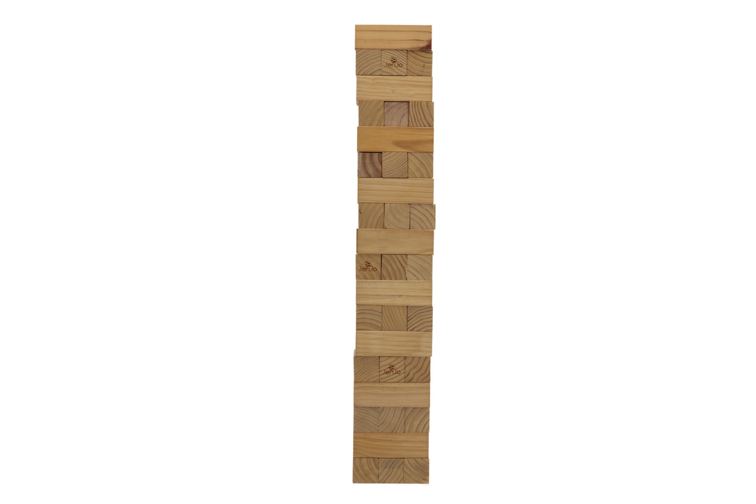 54 Piece Giant Jenjo Outdoor Wood Block Game 127cm