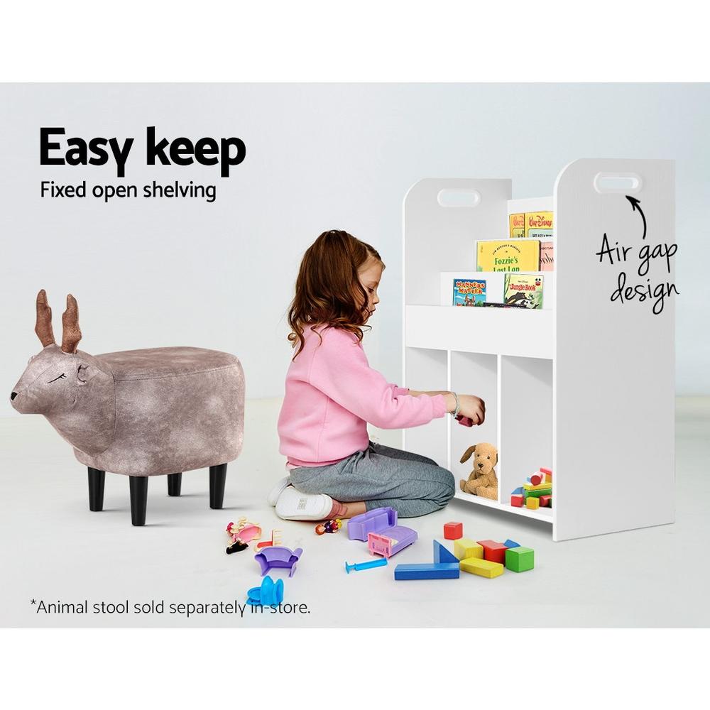 Artiss Kids Bookshelf Children Bookcase Display Cabinet Toys Storage Organizer