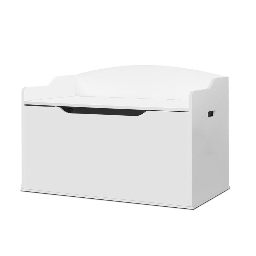 Artiss Kids Toy Box Storage Cabinet Chest Blanket Children Clothes Organiser White