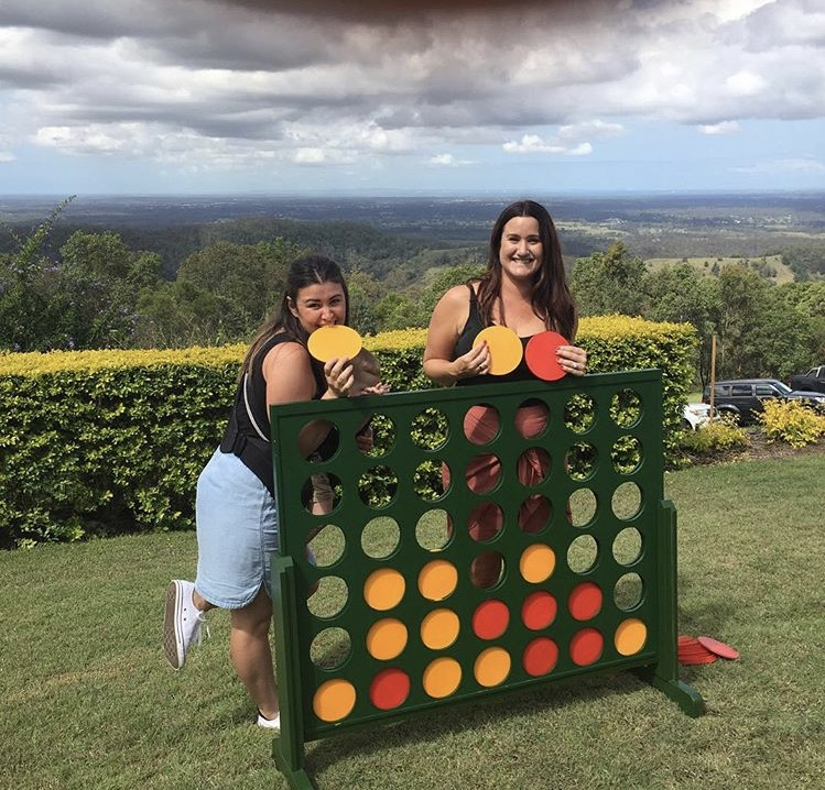 Wooden Indoor Outdoor Giant Connect Four In A Row Game Set 120x109cm Green