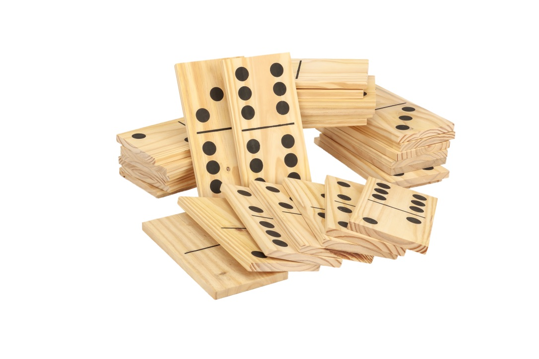 Mega Outdoor Dominoes Game Set with 28 Pieces 30cm