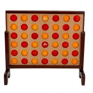 Mega4 Hardwood Connect Four In A Row Game Set 75x79cm