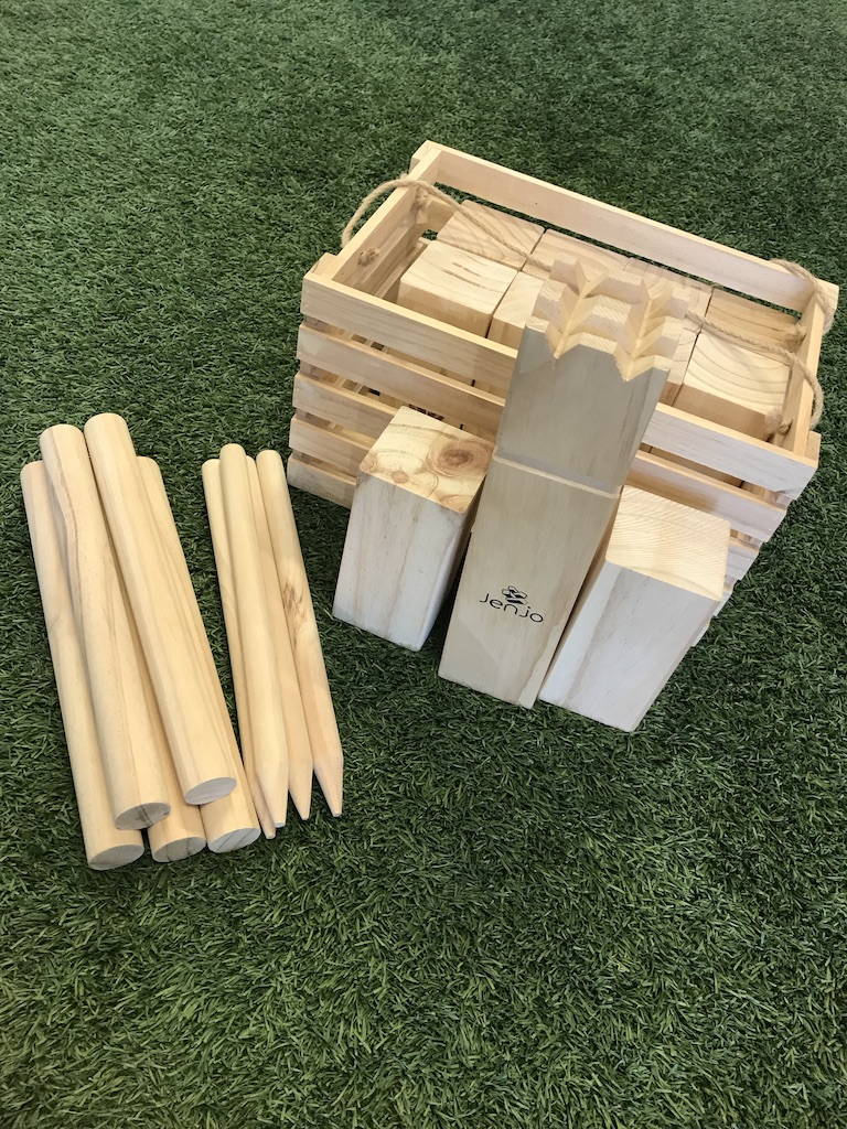 Outdoor Wooden Kubb Lawn Game Set