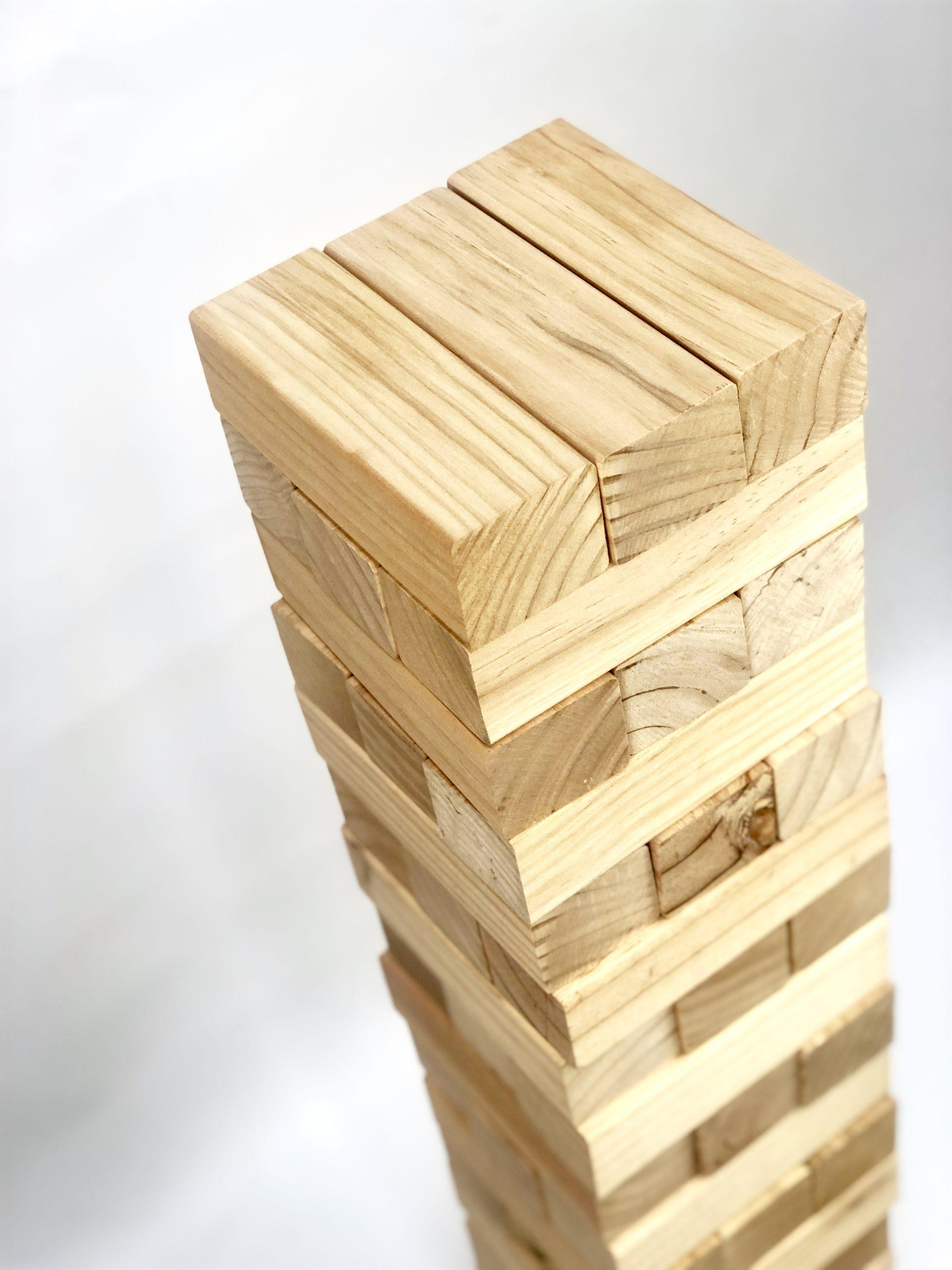 54 Piece Giant Jenjo Outdoor Wooden Block Game 91cm