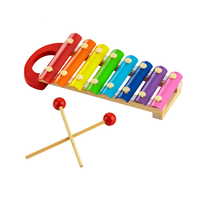 Colourful Musical Xylophone with Wooden Mallets