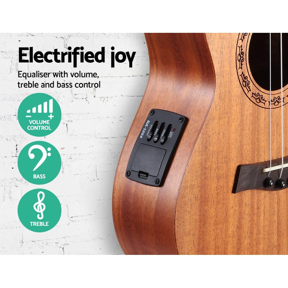 ALPHA 26 Inch Tenor Ukulele Electric Mahogany Ukeleles Uke Hawaii Guitar with EQ
