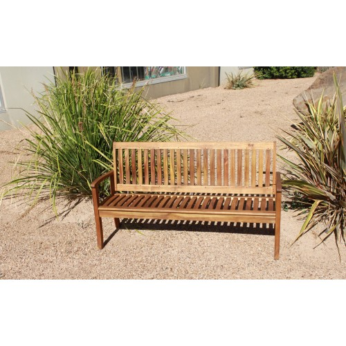 Outdoor Hardwood 3 Seater Kid Bench