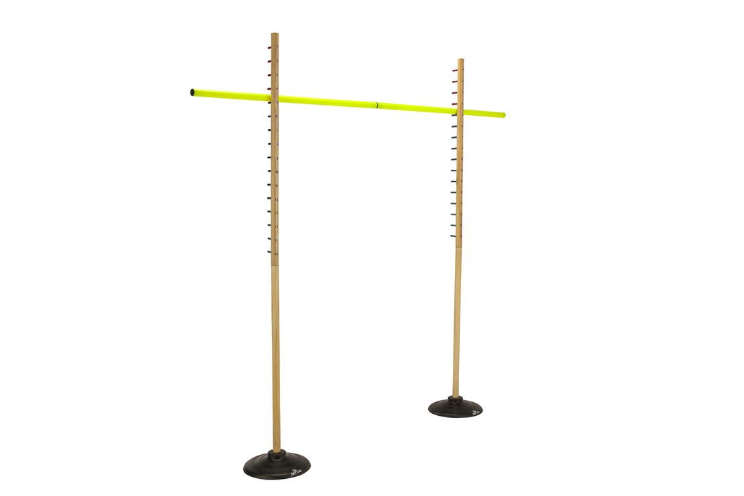 Wooden Limbo Set w/ Rubber Legs & Plastic Pole Height 158cm