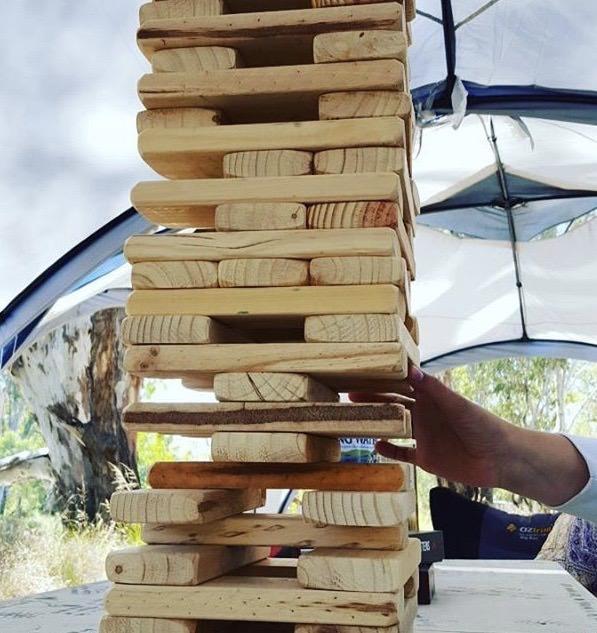 54 Piece Outdoor Giant Jenjo Wooden Block Game 38cm