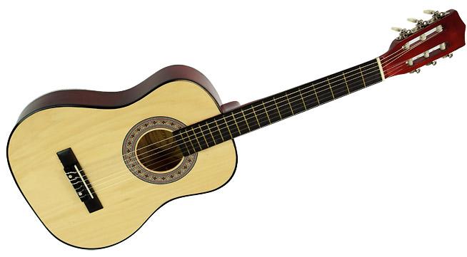 Karrera 34in Acoustic Children no cut Guitar - Natural