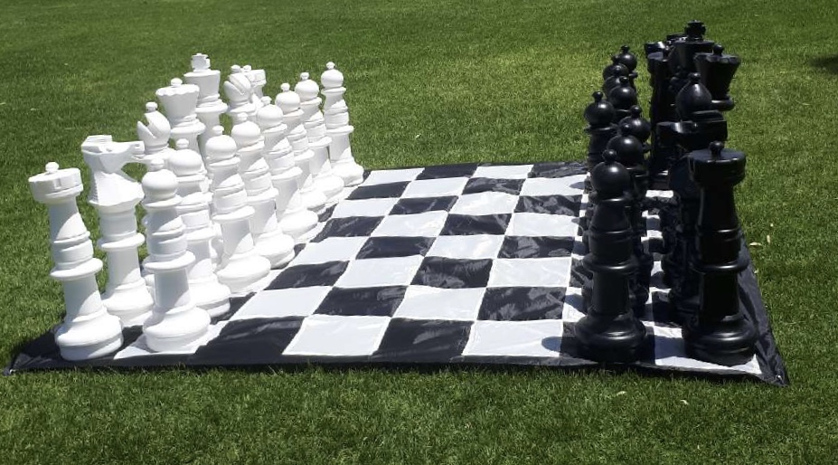 Gigantic Size Plastic Outdoor Chess Game Set w/Mat 3x3m