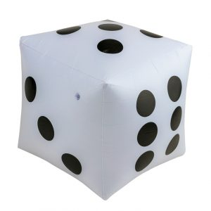 Inflatable Giant Die With Plastic Pump 52cm Diameter