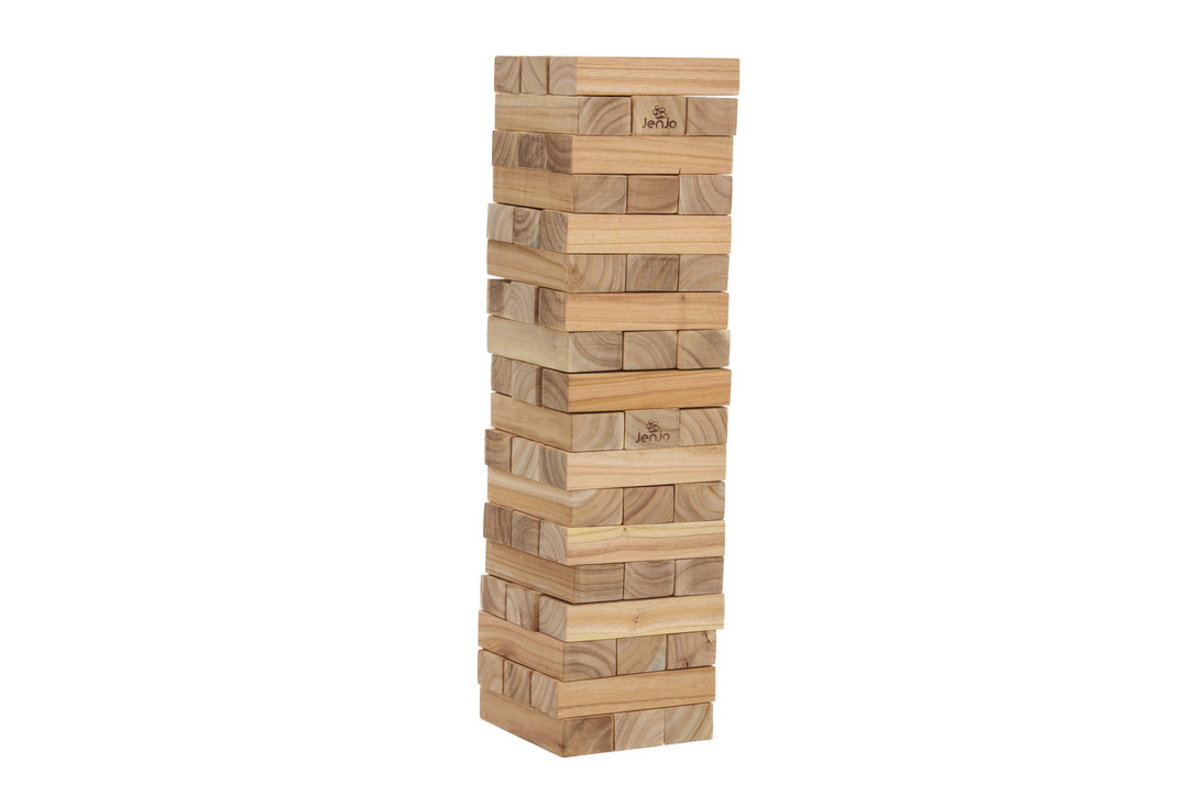 54 Piece Outdoor Giant Jenjo Wooden Block Game 81cm