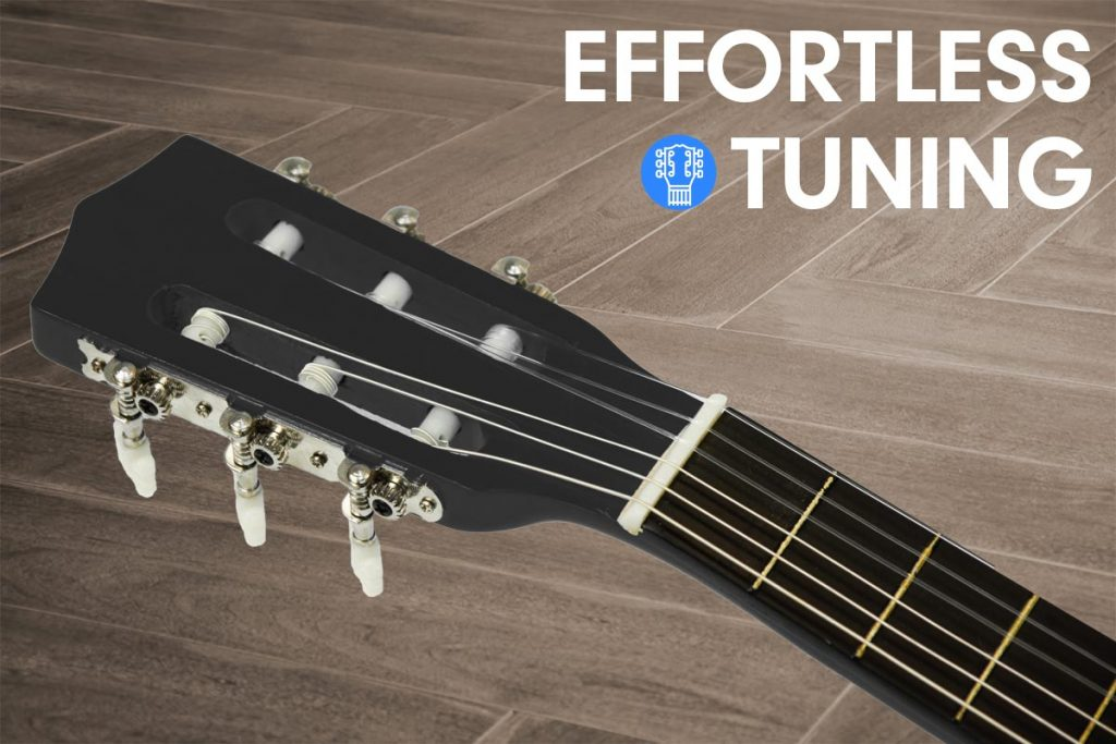 Karrera 34in Acoustic Children no cut Guitar - Black