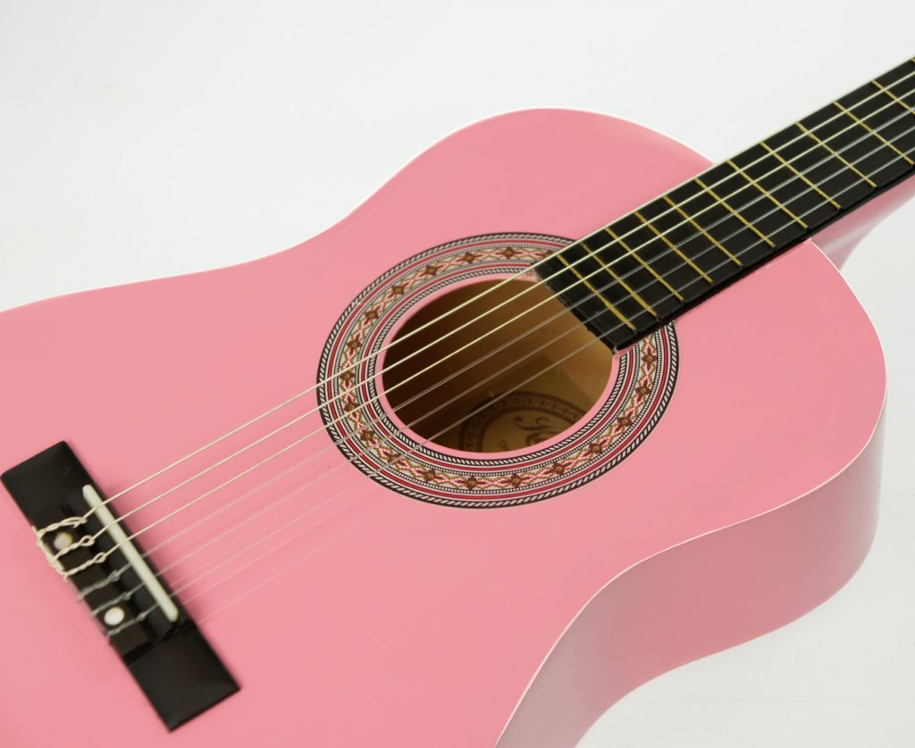 Karrera 34in Acoustic Children no cut Guitar - Pink