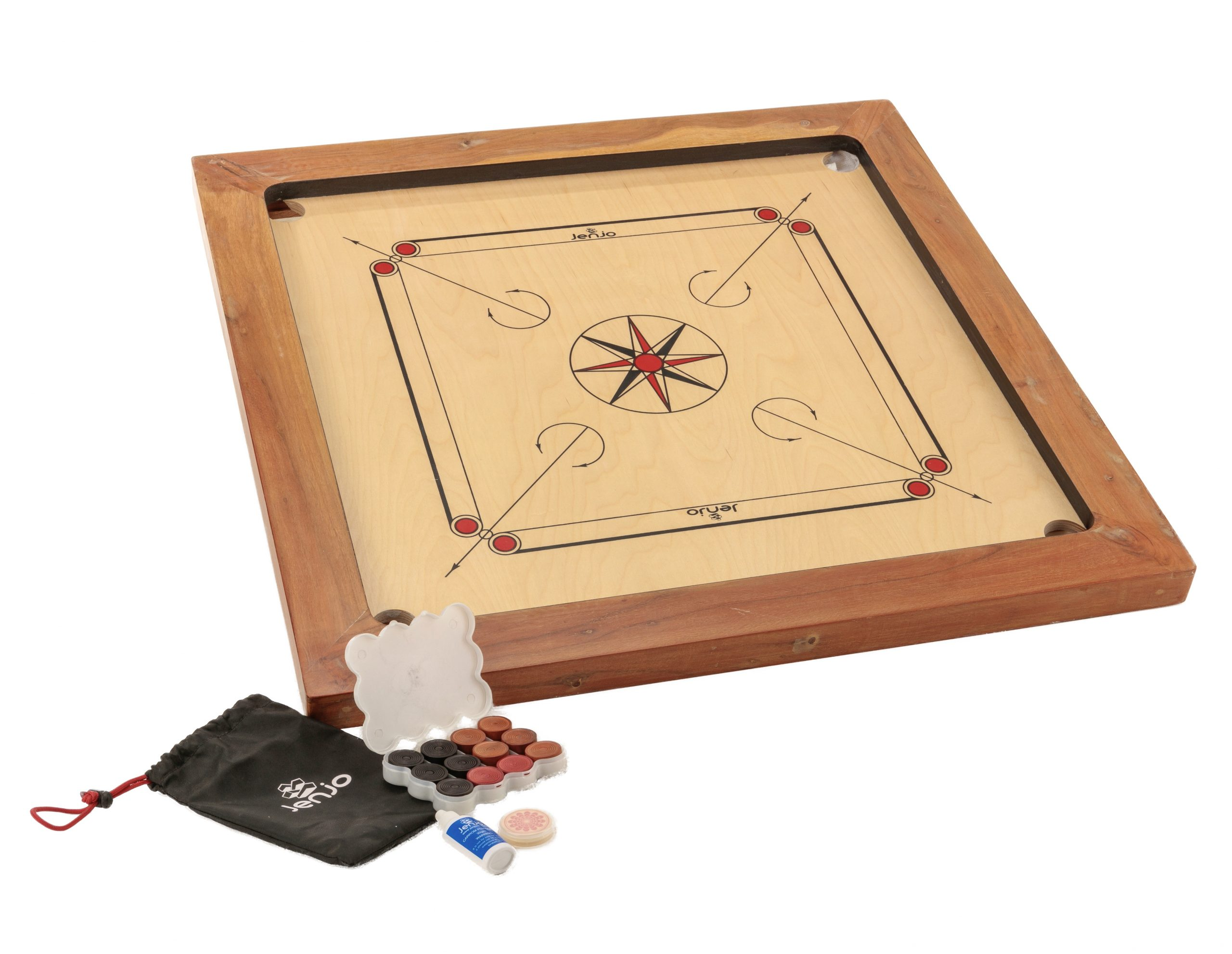 87x87cm Plywood Championship Carrom Board with 74x74cm Internal Playing Area