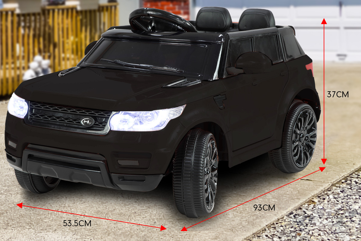Range Rover Inspired 12v Ride-On Kids Car Remote Control - Black