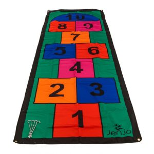 Colourful 3m Length Hopscotch Mat w/ Pegs
