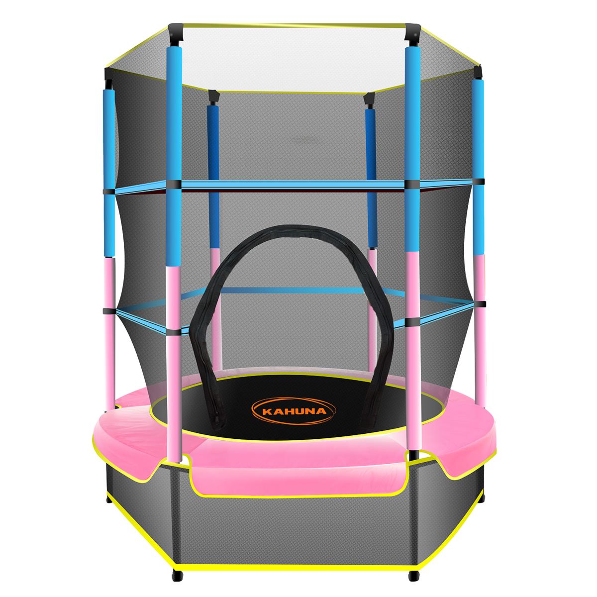 Kahuna Mini 4.5ft Trampoline Blue Pink