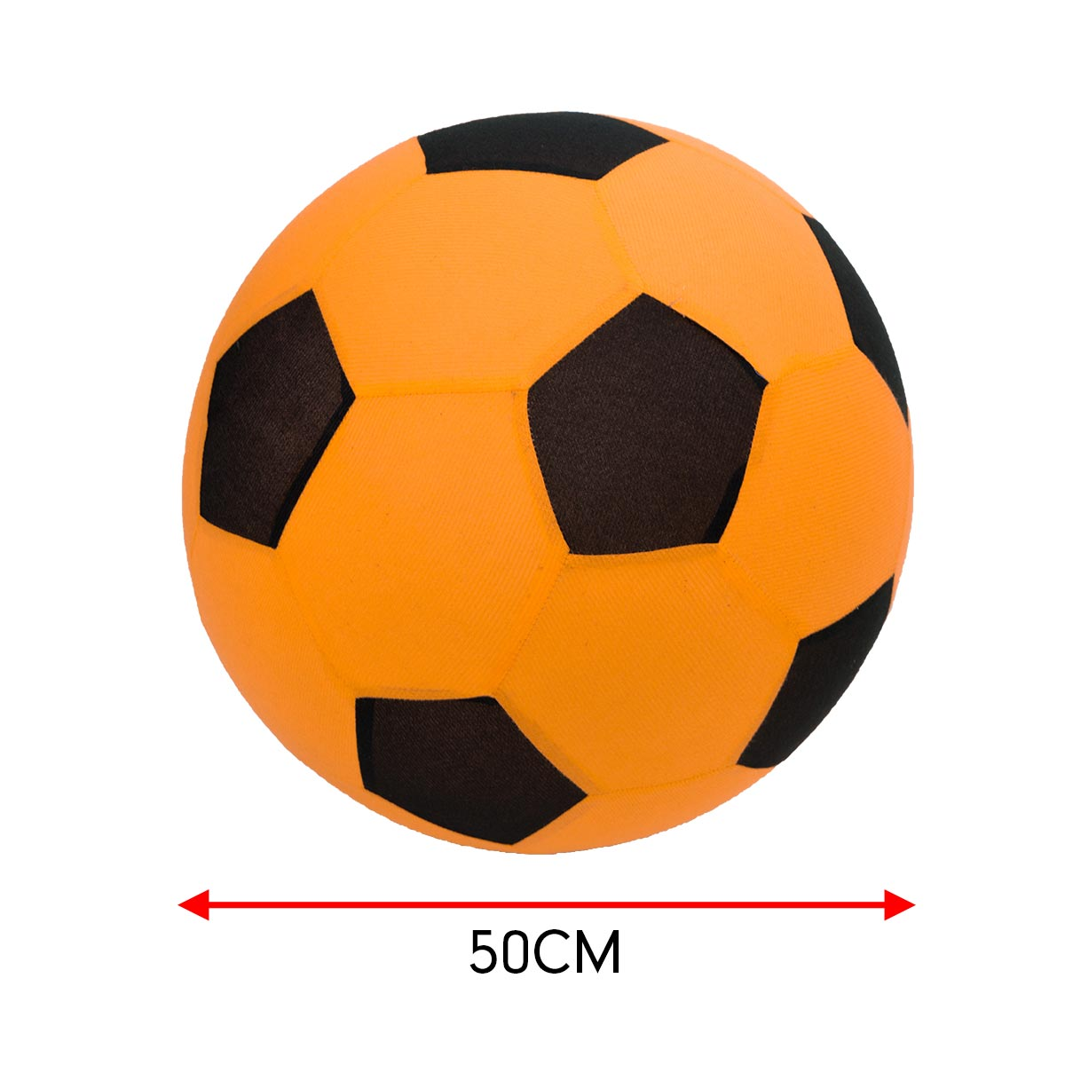 Trampoline Inflatable Football Play Ball Kids Soft Soccer- Orange