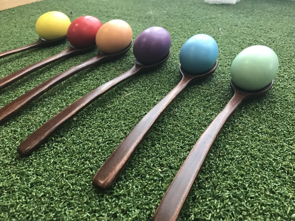 2 in 1 Egg Spoon Race & Hacky Sack Kids Game Set