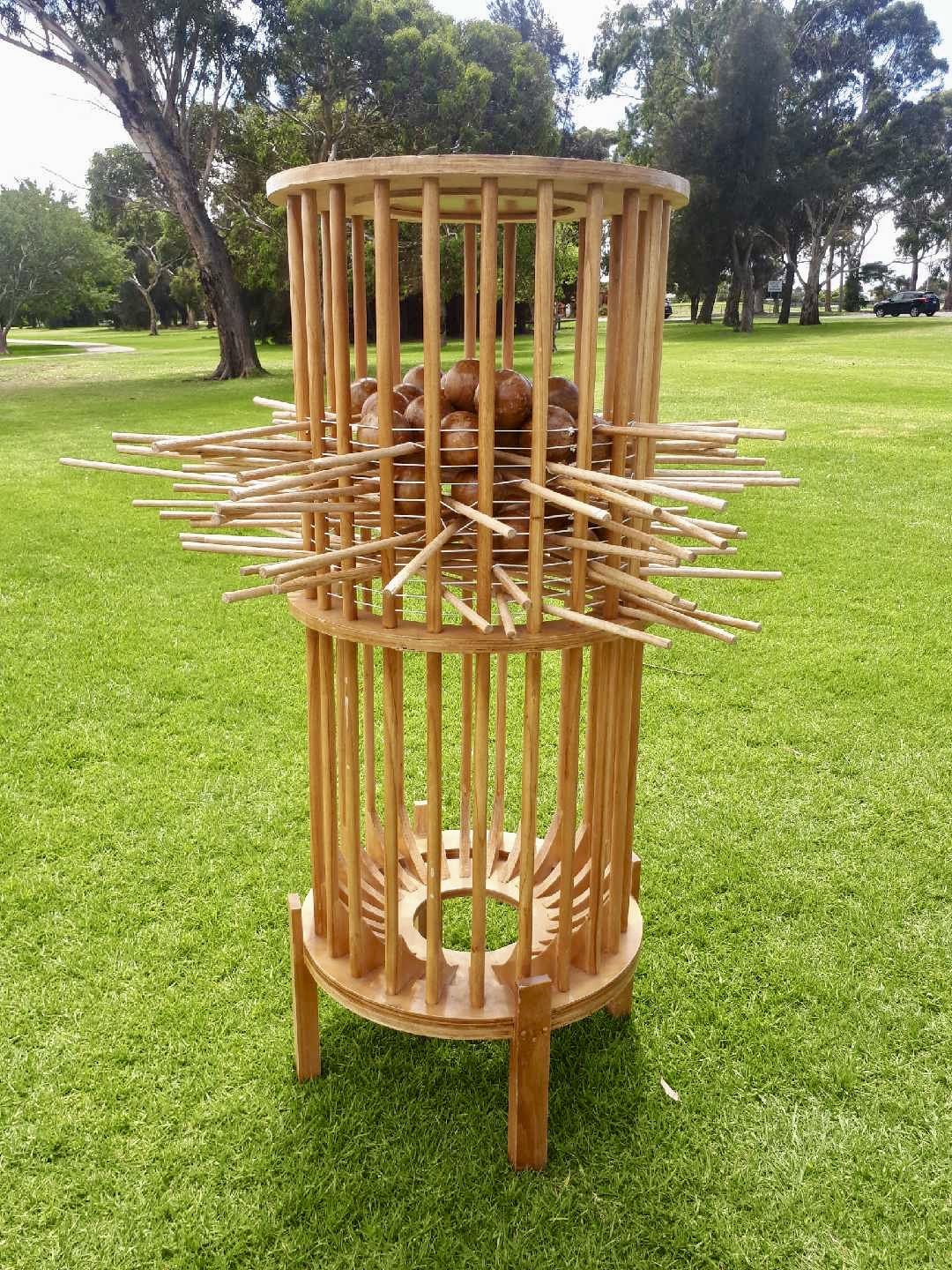 Giant Wooden Kerplunk Game Set 1.5m Height
