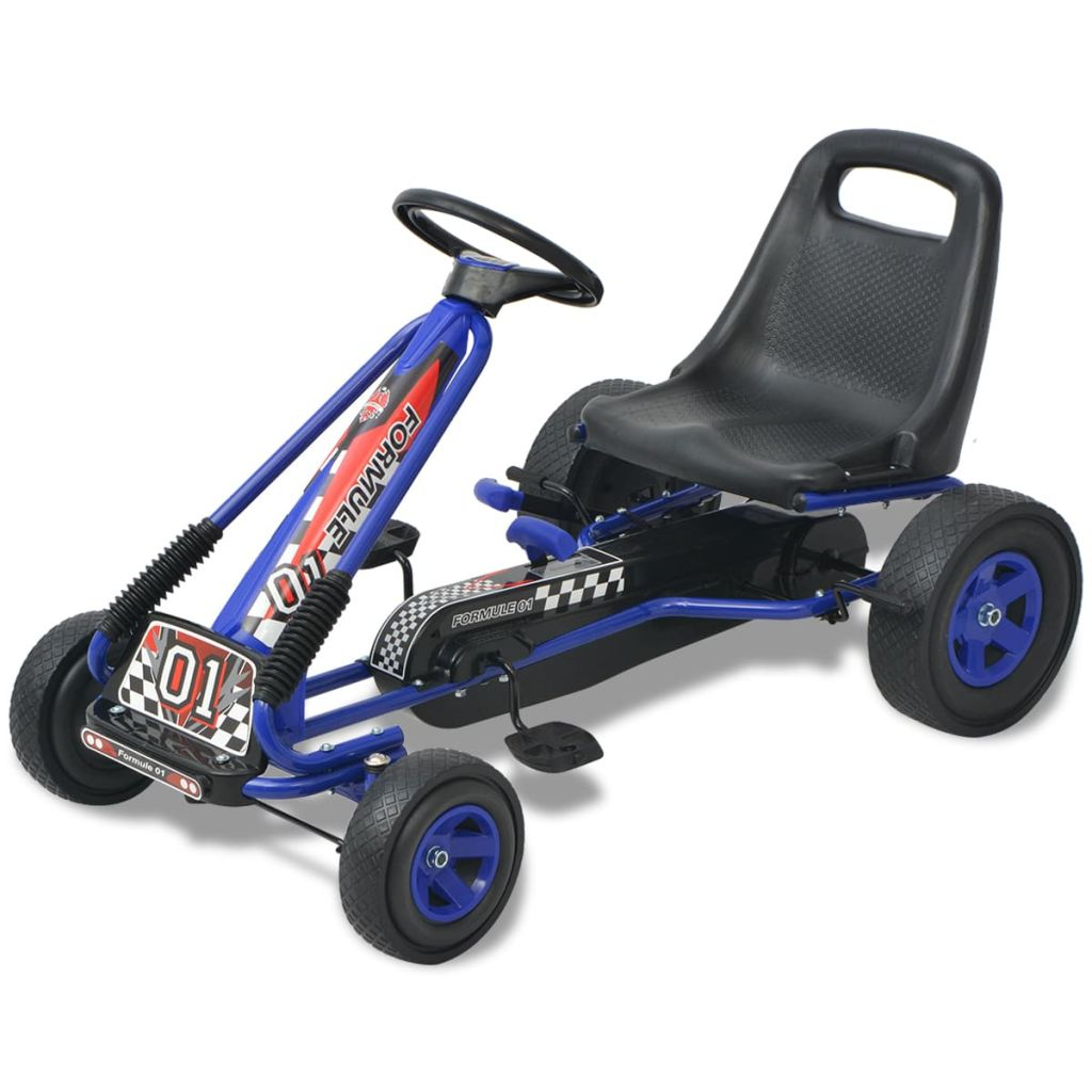 Pedal Go Kart with Adjustable Seat Blue