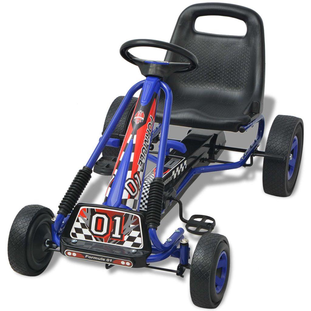 Pedal Go Kart with Adjustable Seat Blue