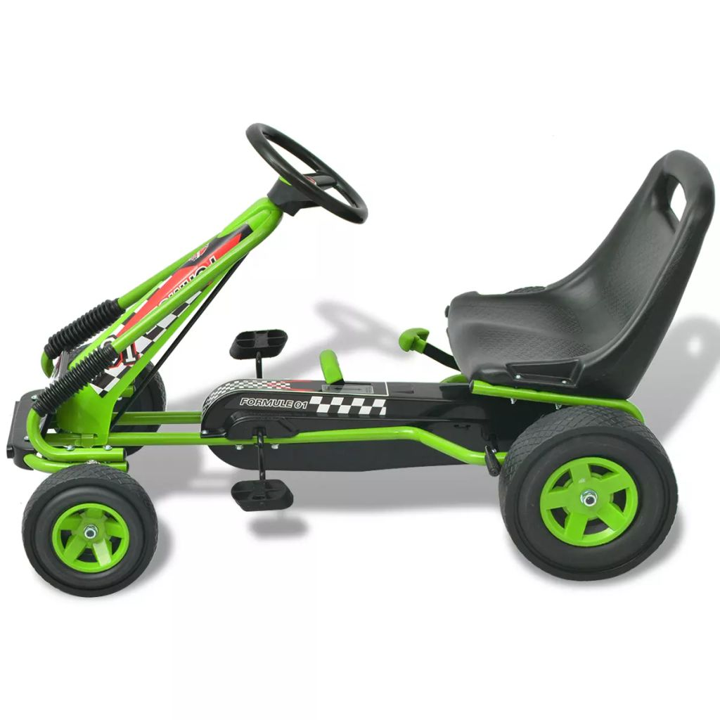Pedal Go Kart with Adjustable Seat Green