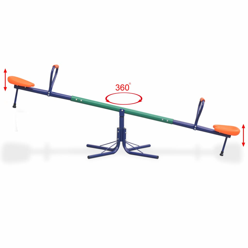 360-Degree Rotating Seesaw Orange