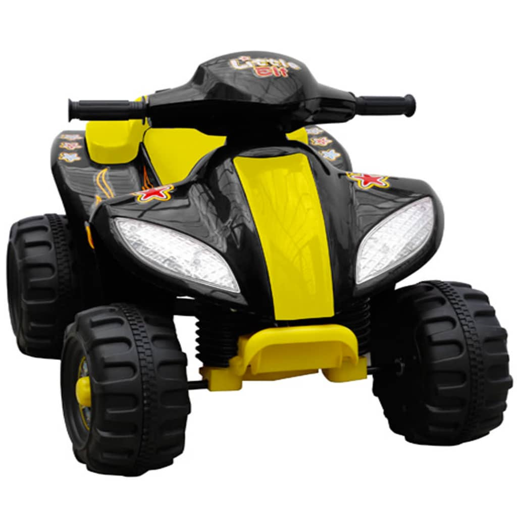 Kids Quad Bike Electric Yellow & Black