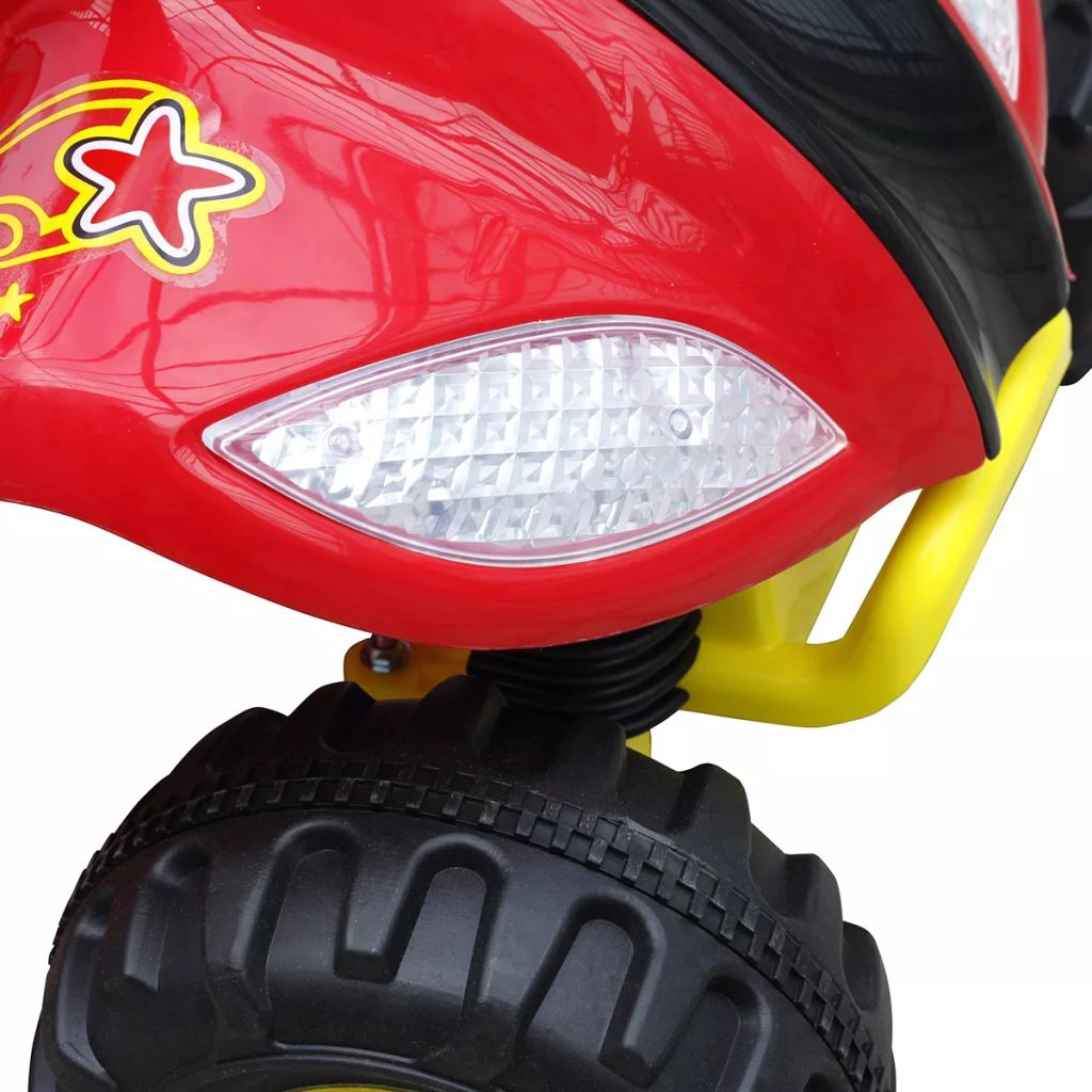 Kids Quad Bike Electric Red & Black