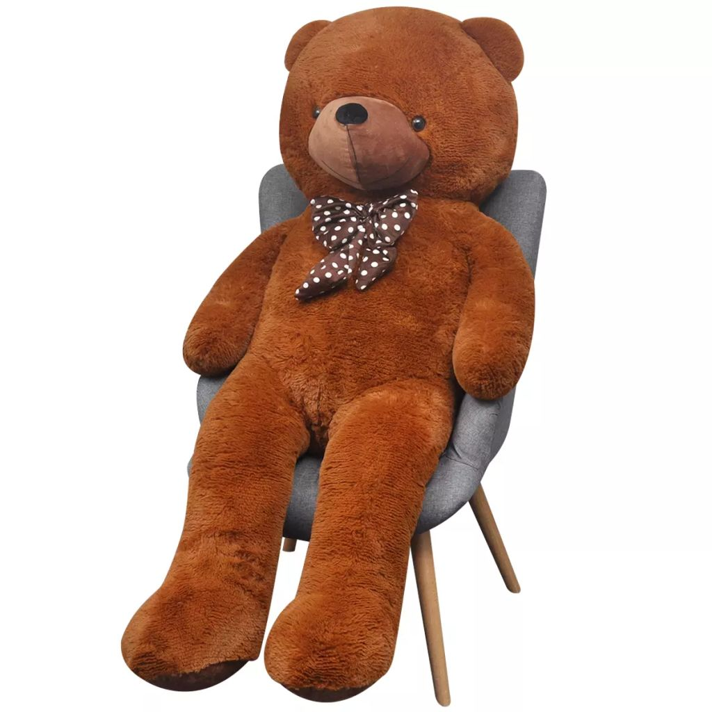 XXL Soft Plush Teddy Bear Toy Brown 100 cm