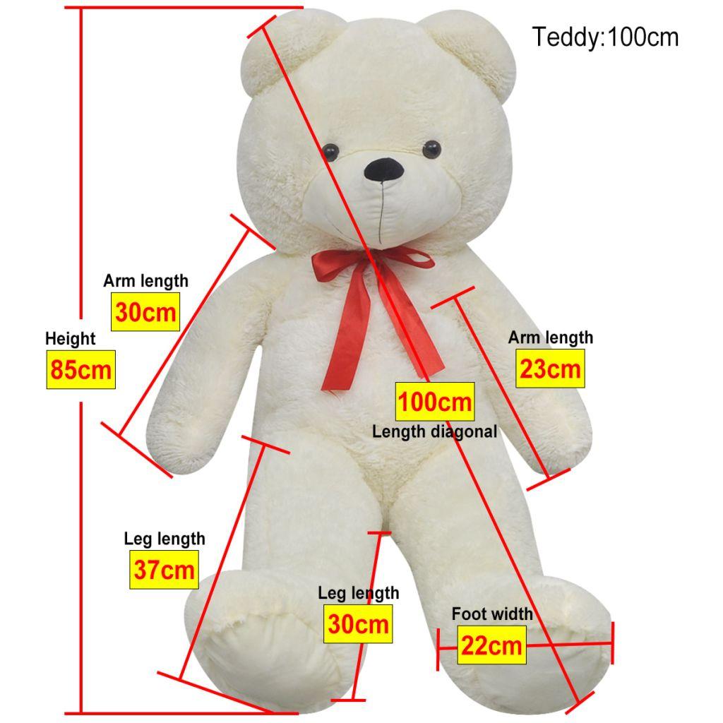 XXL Soft Plush Teddy Bear Toy White 100 cm