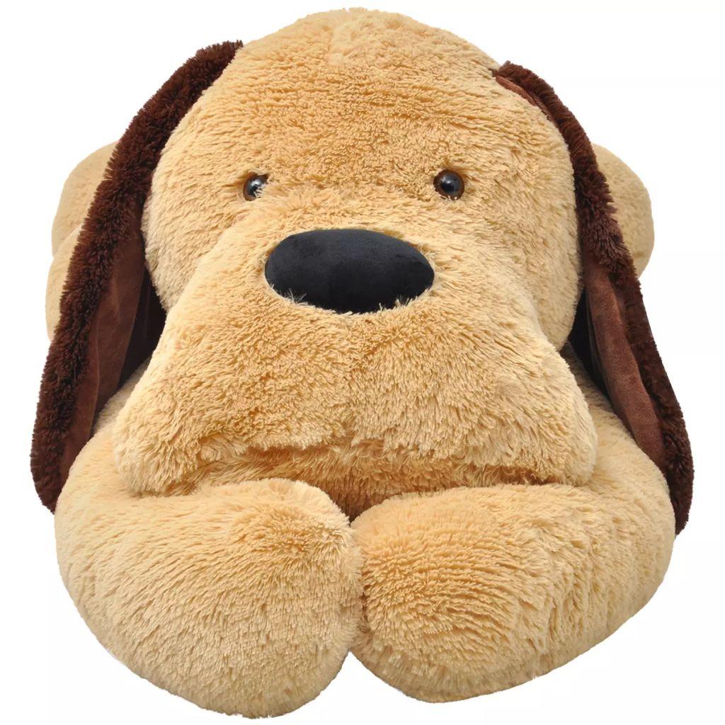 Dog Cuddly Toy Plush Brown 120 cm