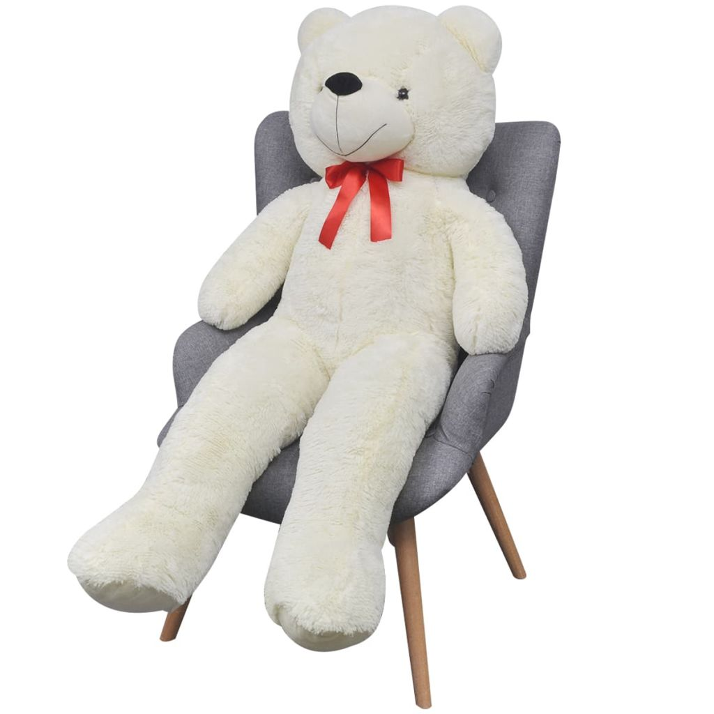 Teddy Bear Cuddly Toy Plush White 200 cm