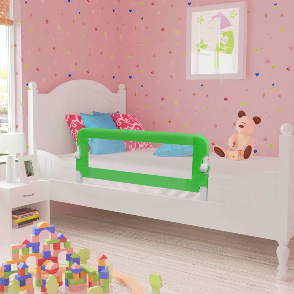 Toddler Safety Bed Rail 2 pcs Green 102x42 cm