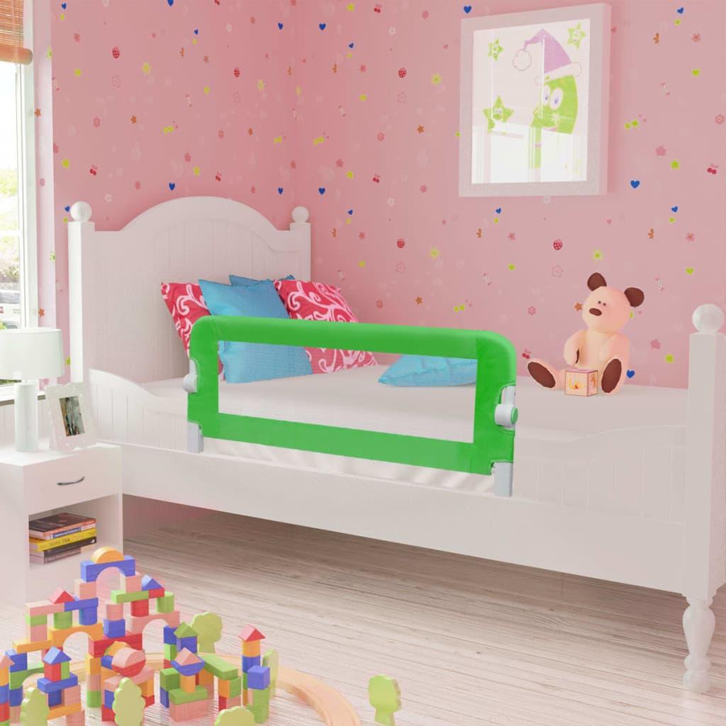 Toddler Safety Bed Rail 2 pcs Green 102x42 cm