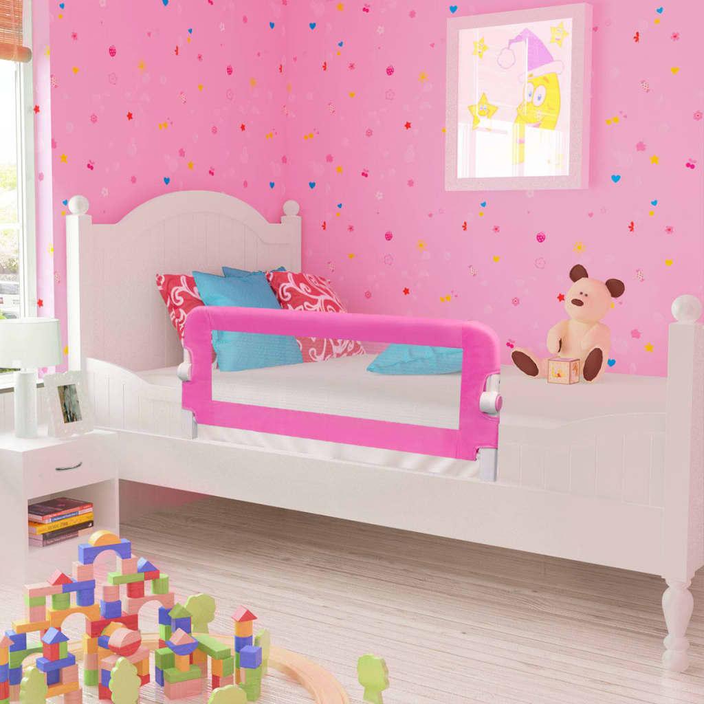 Toddler Safety Bed Rail 2 pcs Pink 102x42 cm