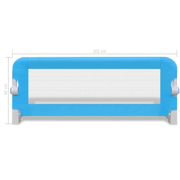 Toddler Safety Bed Rail 2 pcs Blue 102x42 cm