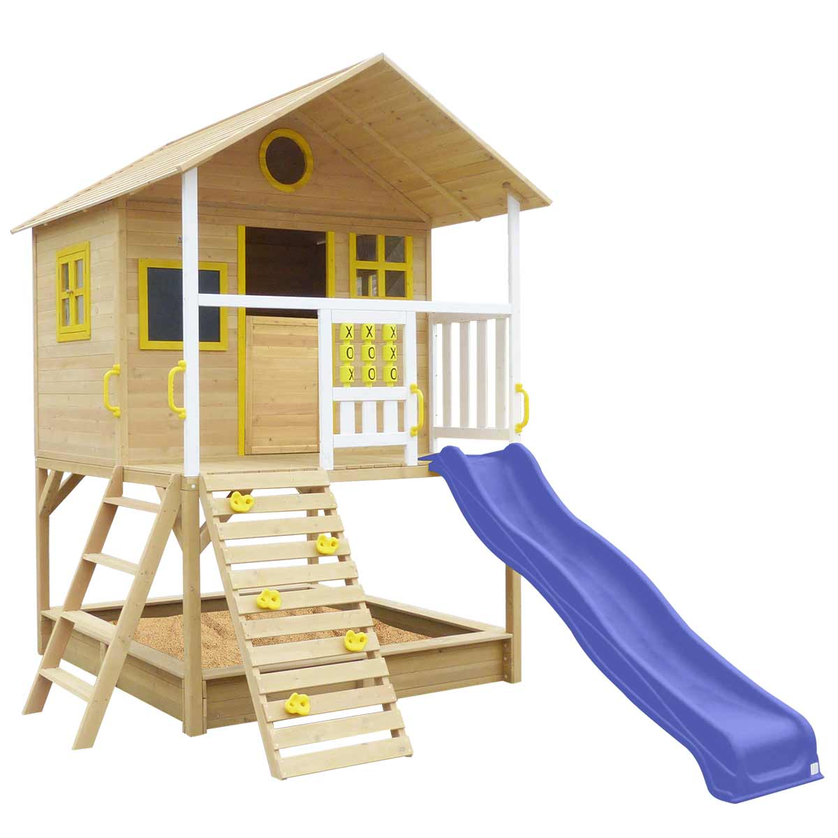 Warrigal Cubby House set- Blue Slide