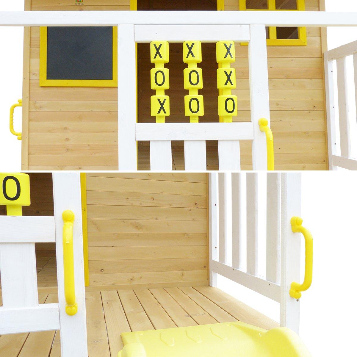Warrigal Cubby House set- Blue Slide