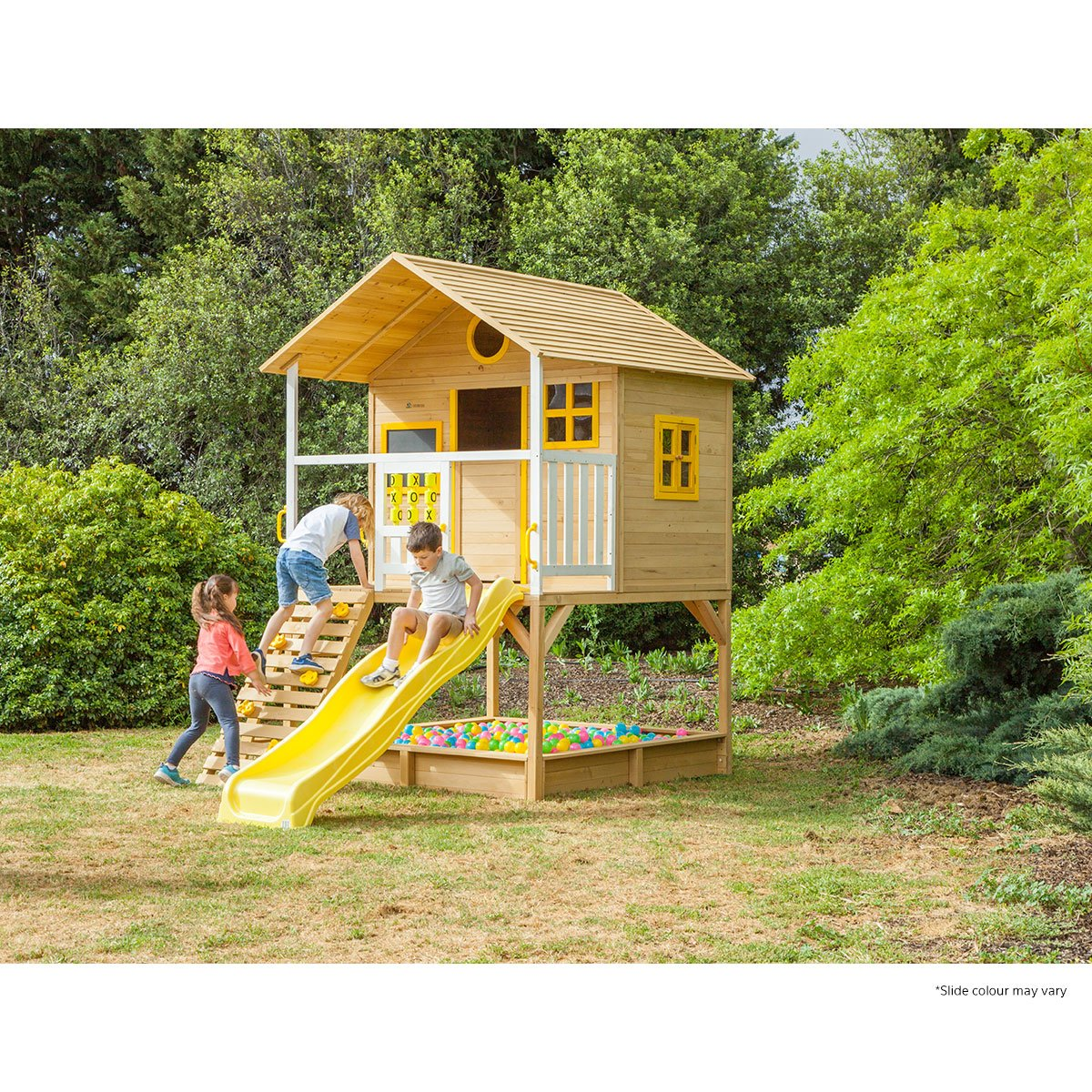 Warrigal Cubby House set- Red Slide