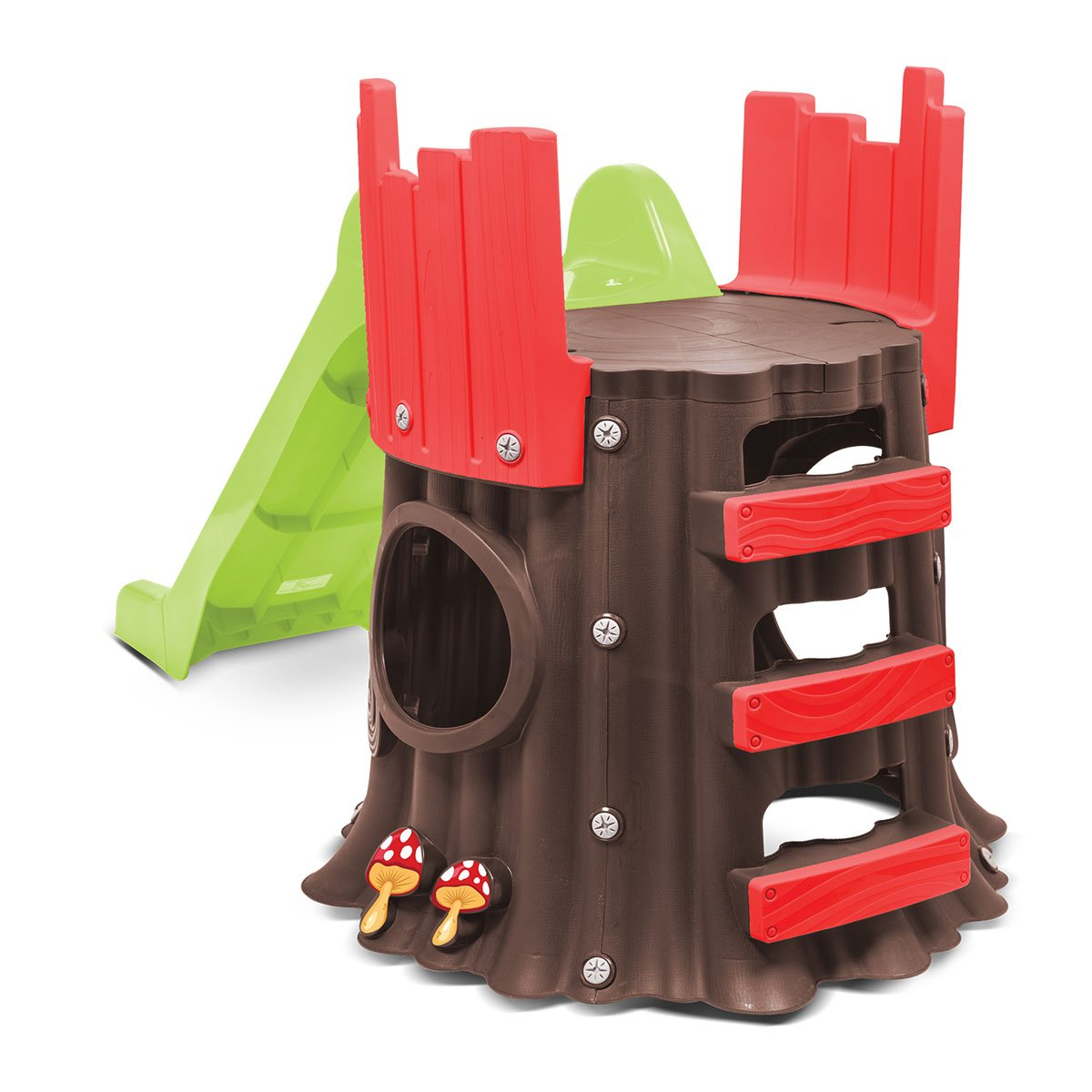 Tree shaped house and slide
